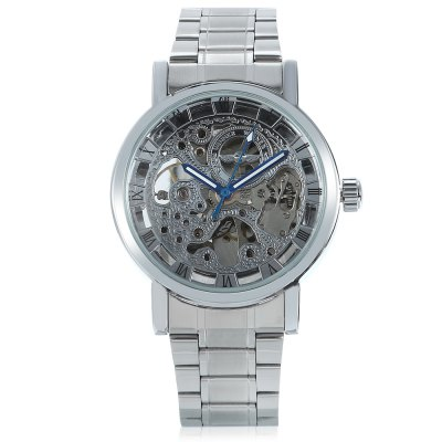Winner H256M Male Auto Mechanical WatchMens Watches<br>Winner H256M Male Auto Mechanical Watch<br><br>Band material: Stainless Steel<br>Band size: 22 x 1.8cm / 8.66 x 0.71 inches<br>Brand: Winner<br>Case material: Alloy<br>Clasp type: Sheet folding clasp<br>Dial size: 4 x 4 x 1cm / 1.57 x 1.57 x 0.39 inches<br>Display type: Analog<br>Movement type: Automatic mechanical watch<br>Package Contents: 1 x Watch<br>Package size (L x W x H): 12.00 x 5.00 x 2.00 cm / 4.72 x 1.97 x 0.79 inches<br>Package weight: 0.1810 kg<br>Product size (L x W x H): 22.00 x 4.00 x 1.00 cm / 8.66 x 1.57 x 0.39 inches<br>Product weight: 0.1500 kg<br>Shape of the dial: Round<br>Special features: Luminous<br>Watch mirror: Mineral glass<br>Watch style: Business, Fashion<br>Watches categories: Male table<br>Water resistance : Life water resistant