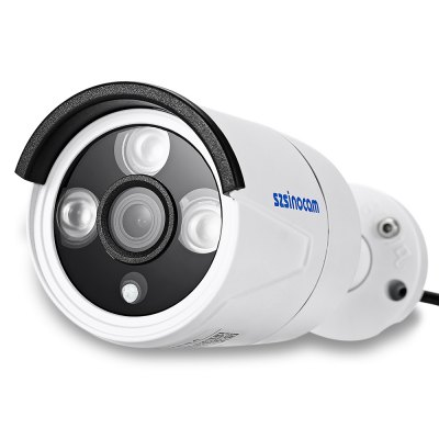 Szsinocam SN - IPC - 3019FBSW131440P 4.0MP WiFi IP CameraIP Cameras<br>Szsinocam SN - IPC - 3019FBSW131440P 4.0MP WiFi IP Camera<br><br>Alarm Notice: Email Photo,FTP Photo<br>APP: CamViews<br>Backlight Compensation: Auto<br>Brand: Szsinocam<br>Compatible Operation Systems: Linux,Microsoft Windows 98/ ME /2000/ XP,Windows 7,Windows 8<br>Environment: Indoor,Outdoor<br>FOV: 90 degree<br>Frame Rate (FPS): 15 - 25fps<br>Image Adjustment: Brightness,Color saturation,Contrast,Hue,Sharpness<br>Infrared Distance: 10 - 20m<br>Infrared LED: 3 LEDs<br>IP camera performance: Night Vision, Motion Detection, Interphone, Screenshot, Support video control<br>IP Mode : Dynamic IP address, static IP address<br>Language: Danish,Dutch,English,Finnish,French,German,Italian,Japanese,Korean,Polish,Portuguese,Russian,Simplified Chinese,Spanish,Swedish<br>Maximum Monitoring Range: 10 - 20m<br>Minimum Illumination: 0.1 Lux ( IR LED On ) / F 1.2<br>Mobile Access: Android,IOS<br>Model: Szsinocam SN - IPC - 3019FBSW13<br>Motion Detection Distance: 10 - 20m<br>Network Port: RJ-45<br>Online Visitor (Max.): 5<br>Operate Temperature (?): 0 - 50 Deg.C<br>Package Contents: 1 x IP Camera, 1 x English User Manual, 1 x Power Adapter ( with 106cm Cable ), 1 x CD, 3 x Screw, 3 x Screw Cap, 1 x Screwdriver, 2 x Antenna<br>Package size (L x W x H): 20.50 x 10.80 x 11.50 cm / 8.07 x 4.25 x 4.53 inches<br>Package weight: 0.5990 kg<br>Pixels: 4MP<br>Product size (L x W x H): 6.30 x 6.30 x 17.70 cm / 2.48 x 2.48 x 6.97 inches<br>Product weight: 0.3500 kg<br>Protocol: DDNS,DHCP,FTP,HTTP,HTTPS,IP,LAN,ONVIF,P2P,RTSP,SMTP<br>Sensor: CMOS<br>Sensor size (inch): 1/3<br>Shape: Bullet Camera<br>Technical Feature: Infrared, Waterproof<br>Video Compression Format: H.264<br>Video format: AVI<br>Video Resolution: 1440P<br>Video Standard: NTSC,PAL<br>Waterproof: IP66<br>Web Browser: Firefox,Google Chrome,IE,Microsoft Internet Explorer 6.0 above,Safari<br>White Balance: Auto<br>WiFi Distance : Outdoor: 100m without obstacle /