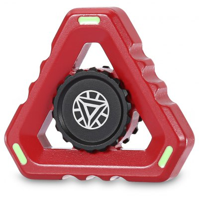 MM + S40 Triangle EDC Fidget Spinner Toy with Light Circle