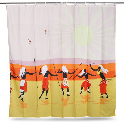 Tribe Pattern Waterproof Bath Shower Curtain