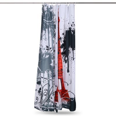 Eiffel Tower Pattern Waterproof Bath Shower CurtainOther Bathroom Accessories<br>Eiffel Tower Pattern Waterproof Bath Shower Curtain<br><br>Material: Dacron<br>Package Contents: 1 x Bath Curtain<br>Package size (L x W x H): 26.50 x 21.60 x 4.00 cm / 10.43 x 8.5 x 1.57 inches<br>Package weight: 0.3750 kg<br>Product weight: 0.2740 kg