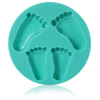 Foot Style Silicone Cake Chocolate Fondant Mold for Home