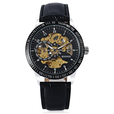 Winner H216M Male Auto Mechanical WatchMens Watches<br>Winner H216M Male Auto Mechanical Watch<br><br>Available Color: Black<br>Band material: Leather<br>Band size: 25.50 x 2.00 cm / 10.04 x 0.78 inches<br>Brand: Winner<br>Case material: Alloy<br>Clasp type: Pin buckle<br>Dial size: 4.00 x 4.00 x 1.10 cm / 1.57 x 1.57 x 0.43 inches<br>Display type: Analog<br>Movement type: Automatic mechanical watch<br>Package Contents: 1 x Winner H216M Male Auto Mechanical Watch<br>Package size (L x W x H): 27.00 x 6.00 x 3.00 cm / 10.63 x 2.36 x 1.18 inches<br>Package weight: 0.2000 kg<br>Product size (L x W x H): 25.50 x 4.00 x 1.10 cm / 10.04 x 1.57 x 0.43 inches<br>Product weight: 0.0800 kg<br>Shape of the dial: Round<br>Watch style: Casual<br>Watches categories: Men<br>Wearable length: 16.00 - 22.00 cm / 6.29 - 8.66 inches