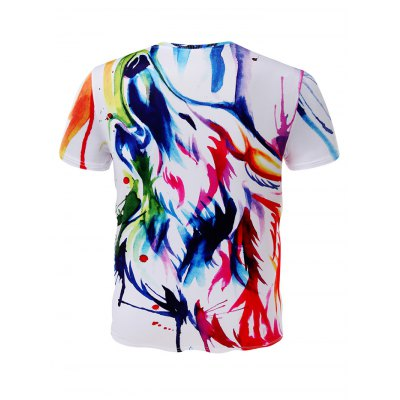 Wolf Printed Short Sleeves Men T ShirtMens Short Sleeve Tees<br>Wolf Printed Short Sleeves Men T Shirt<br><br>Fabric Type: Cotton, Polyester<br>Neckline: Round Neck<br>Package Content: 1 x T Shirt<br>Package size: 32.00 x 28.00 x 2.00 cm / 12.6 x 11.02 x 0.79 inches<br>Package weight: 0.2000 kg<br>Product weight: 0.1700 kg<br>Season: Summer, Spring, Autumn<br>Sleeve Length: Short Sleeves<br>Style: Fashion, Casual