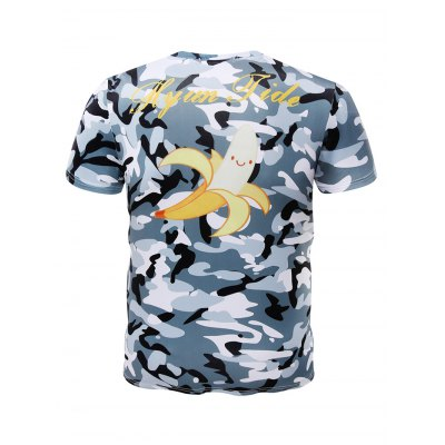 Fashion Banana Printed Short Sleeves Men T ShirtMens Short Sleeve Tees<br>Fashion Banana Printed Short Sleeves Men T Shirt<br><br>Fabric Type: Polyester<br>Package Content: 1 x T Shirt<br>Package size: 32.00 x 28.00 x 2.00 cm / 12.6 x 11.02 x 0.79 inches<br>Package weight: 0.2000 kg<br>Product weight: 0.1700 kg<br>Season: Summer, Spring, Autumn<br>Style: Sport, Fashion