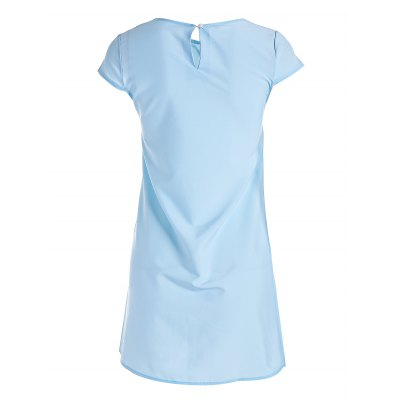 Loose Fit Mini DressMini Dresses<br>Loose Fit Mini Dress<br><br>Dresses Length: Mini<br>Material: Cotton Blend<br>Neckline: Round Collar<br>Occasion: Casual, Beach and Summer<br>Package Contents: 1 x Dress<br>Package size: 30.00 x 28.00 x 2.00 cm / 11.81 x 11.02 x 0.79 inches<br>Package weight: 0.2500 kg<br>Pattern Type: Solid Color<br>Product size: 30.00 x 28.00 x 2.00 cm / 11.81 x 11.02 x 0.79 inches<br>Product weight: 0.2000 kg<br>Season: Summer<br>Silhouette: Straight<br>Sleeve Length: Short Sleeves<br>Sleeve Type: Cap Sleeve<br>Style: Brief<br>With Belt: No
