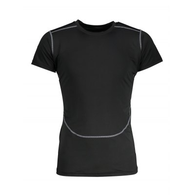 Outdoor Fitness Elastic Quick-dry T ShirtMens Short Sleeve Tees<br>Outdoor Fitness Elastic Quick-dry T Shirt<br><br>Material: Lycra, Spandex<br>Neckline: Round Neck<br>Package Content: 1 x T Shirt<br>Package size: 30.00 x 28.00 x 2.00 cm / 11.81 x 11.02 x 0.79 inches<br>Package weight: 0.2200 kg<br>Product weight: 0.1860 kg<br>Season: Summer<br>Sleeve Length: Short Sleeves<br>Style: Sport