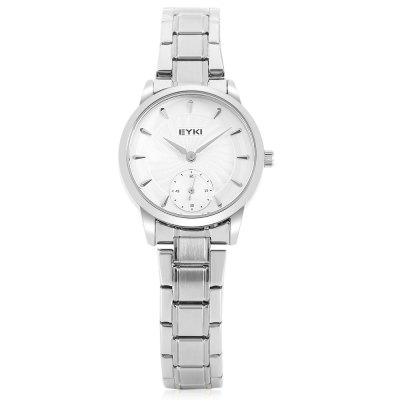 EYKI E2041S Fashion Women Quartz WatchWomens Watches<br>EYKI E2041S Fashion Women Quartz Watch<br><br>Band material: Stainless Steel<br>Band size: 22.00 x 1.80 cm / 8.66 x 0.70 inches<br>Brand: Eyki<br>Case material: Alloy<br>Clasp type: Folding clasp with safety<br>Dial size: 2.80 x 2.80 x 0.78 cm / 1.10 x 1.10 x 0.31 inches<br>Display type: Analog<br>Movement type: Quartz watch<br>Package Contents: 1 x EYKI E2041S Fashion Women Quartz Watch<br>Package size (L x W x H): 24.00 x 4.00 x 2.50 cm / 9.45 x 1.57 x 0.98 inches<br>Package weight: 0.0860 kg<br>Product size (L x W x H): 22.00 x 2.80 x 0.78 cm / 8.66 x 1.1 x 0.31 inches<br>Product weight: 0.0560 kg<br>Shape of the dial: Round<br>Watch style: Business<br>Watches categories: Female table<br>Water resistance : Life water resistant