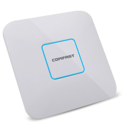 COMFAST CF - E380AC  Wireless AP RouterWireless Routers<br>COMFAST CF - E380AC  Wireless AP Router<br><br>Brand: COMFAST<br>DC Port: No<br>Features: Gigabit, Dual Band<br>Freq: 50Hz-60Hz<br>Gain dBi: 3dBi<br>LAN Ports: Under 2 ports<br>Language: Chinese,English<br>Max. LAN Data Rate: 1000Mbps<br>Network Protocols: IEEE 802.11a,IEEE 802.11b,IEEE 802.11g,IEEE 802.11n<br>Package size: 22.00 x 22.00 x 5.10 cm / 8.66 x 8.66 x 2.01 inches<br>Package weight: 0.5500 kg<br>Packing List: 1 x POE Power Supply, 1 x Power Line, 1 x Netting Twine, 4 x Screw Fitting, 1 x Quick Installation Guide, 1 x AP Router<br>Product size: 20.00 x 20.00 x 4.10 cm / 7.87 x 7.87 x 1.61 inches<br>Product weight: 0.5000 kg<br>Quantity of Antenna: 6<br>Router Connectivity Type: Wireless<br>Speed of Ethernet Port: 1000Mbps<br>Transmission Rate: 1750Mbps<br>Type: AP, Repeater, Router<br>WiFi Distance : 80m<br>WiFi Network Frequency: 2.4GHz,5.8GHz<br>Wireless Security: WPA2, WPA-PSK, WPA2-PSK, WPA<br>Wireless Standard: Wireless N<br>Working Voltage: 48V 0.5A