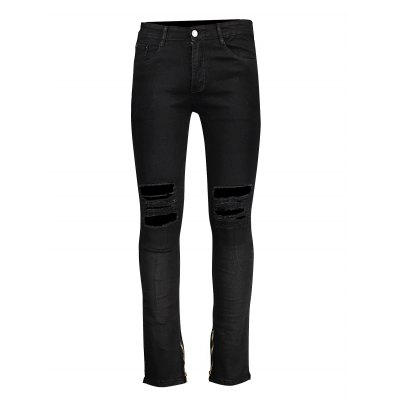 Men Denim Leggings with Zipper Knee RipsMens Pants<br>Men Denim Leggings with Zipper Knee Rips<br><br>Material: Cotton<br>Package Contents: 1 x Denim Leggings<br>Package size: 20.00 x 20.00 x 4.00 cm / 7.87 x 7.87 x 1.57 inches<br>Package weight: 0.5700 kg<br>Product weight: 0.5000 kg