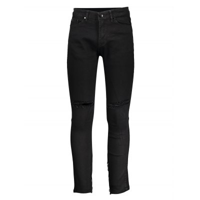 Men Skinny Jeans with Knee RipsMens Pants<br>Men Skinny Jeans with Knee Rips<br><br>Color: Black<br>Material: Cotton<br>Package Contents: 1 x Pair of Jeans<br>Package size: 20.00 x 20.00 x 4.00 cm / 7.87 x 7.87 x 1.57 inches<br>Package weight: 0.3700 kg<br>Product weight: 0.3000 kg