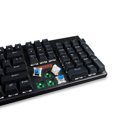 1STPLAYER FIRE ROSE MK3 RGB Mechanical KeyboardKeyboards<br>1STPLAYER FIRE ROSE MK3 RGB Mechanical Keyboard<br><br>Anti-ghosting Number: 104<br>Bluetooth Version: Not Supported<br>Brand: 1STPLAYER<br>Cable Length (m): 1.8m<br>Connection: Wired<br>Interface: USB 2.0<br>Key Number: 104<br>Keyboard Lifespan ( times): 50 million<br>Keyboard Type: Mechanical Keyboard<br>Material: ABS<br>Model: FIRE ROSE MK3 RGB<br>Package Contents: 1 x 1STPLAYER FIRE ROSE MK3 RGB Mechanical Keyboard, 1 x Key Puller, 5 x Blue Switch, 1 x English Manual<br>Package size (L x W x H): 46.15 x 17.30 x 4.80 cm / 18.17 x 6.81 x 1.89 inches<br>Package weight: 1.4280 kg<br>Product size (L x W x H): 45.00 x 17.00 x 3.50 cm / 17.72 x 6.69 x 1.38 inches<br>Product weight: 1.1960 kg<br>Response Speed: 2ms<br>Type: Keyboard