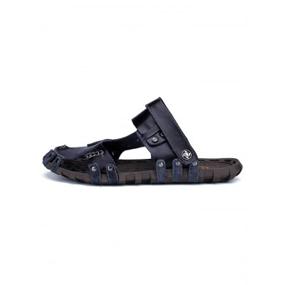 Genuine Leather Men Slide SlippersMens Slippers<br>Genuine Leather Men Slide Slippers<br><br>Contents: 1 x Pair of Shoes<br>Materials: Genuine Leather, Rubber<br>Occasion: Casual, Daily<br>Package Size ( L x W x H ): 33.00 x 22.00 x 11.00 cm / 12.99 x 8.66 x 4.33 inches<br>Package Weights: 0.670kg<br>Seasons: Summer<br>Size: 38,39,40,41,42,43,44<br>Style: Comfortable, Leisure<br>Type: Slippers