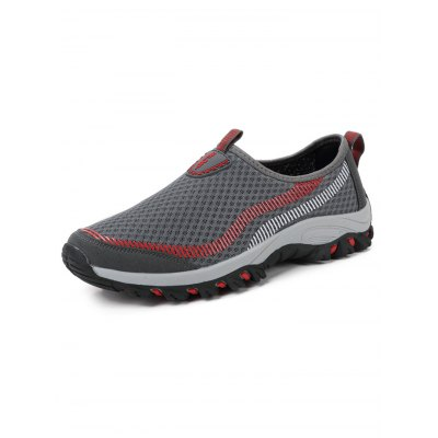Outdoor Climbing Slip On Men Sports ShoesHiking Shoes<br>Outdoor Climbing Slip On Men Sports Shoes<br><br>Contents: 1 x Pair of Shoes<br>Materials: Mesh, Rubber<br>Occasion: Casual<br>Package Size ( L x W x H ): 33.00 x 22.00 x 11.00 cm / 12.99 x 8.66 x 4.33 inches<br>Package Weights: 0.770<br>Seasons: Autumn,Spring,Summer<br>Style: Leisure, Fashion, Comfortable<br>Type: Hiking Shoes