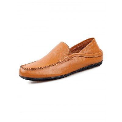 Casual Slip On Men Leather ShoesCasual Shoes<br>Casual Slip On Men Leather Shoes<br><br>Contents: 1 x Pair of Shoes<br>Materials: Leather, Rubber<br>Occasion: Casual<br>Package Size ( L x W x H ): 33.00 x 22.00 x 11.00 cm / 12.99 x 8.66 x 4.33 inches<br>Package Weights: 0.570<br>Seasons: Autumn,Spring,Summer<br>Style: Leisure, Fashion, Comfortable<br>Type: Casual Shoes