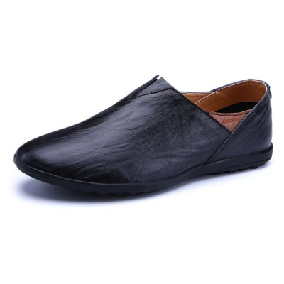 British Style Slip-on PU Leather Men Casual Loafers