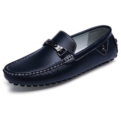 British Style Men Casual Loafers with Metal Detail