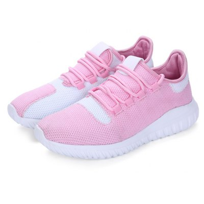 Women Breathable Woven Upper Lace-up Skate Shoes