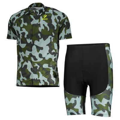 ARSUXEO Cycling Camouflage Shorts Jersey Bike Wear Suit