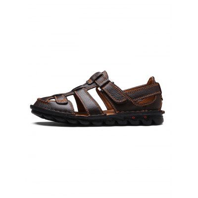 Leather Beach Sandals Casual ShoesMens Sandals<br>Leather Beach Sandals Casual Shoes<br><br>Contents: 1 x Pair of Shoes<br>Materials: Leather, Rubber<br>Occasion: Casual, Daily<br>Package Size ( L x W x H ): 33.00 x 22.00 x 11.00 cm / 12.99 x 8.66 x 4.33 inches<br>Package Weights: 0.670kg<br>Seasons: Summer<br>Style: Leisure, Fashion, Comfortable<br>Type: Sandals