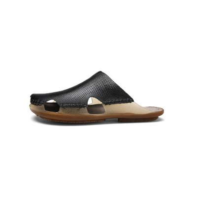 Pure Hand Made Men Leather SlippersMens Slippers<br>Pure Hand Made Men Leather Slippers<br><br>Contents: 1 x Pair of Shoes<br>Materials: Leather, TPR<br>Occasion: Casual, Daily<br>Package Size ( L x W x H ): 33.00 x 22.00 x 11.00 cm / 12.99 x 8.66 x 4.33 inches<br>Package Weights: 0.770kg<br>Pattern Type: Solid<br>Seasons: Summer<br>Style: Leisure, Comfortable<br>Type: Slippers
