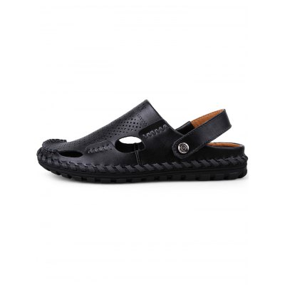 Genuine Leather Summer Fisherman SandalsMens Sandals<br>Genuine Leather Summer Fisherman Sandals<br><br>Contents: 1 x Pair of Shoes<br>Materials: Genuine Leather, Rubber<br>Occasion: Casual, Daily<br>Package Size ( L x W x H ): 33.00 x 22.00 x 11.00 cm / 12.99 x 8.66 x 4.33 inches<br>Package Weights: 0.670kg<br>Pattern Type: Solid<br>Seasons: Summer<br>Style: Leisure, Comfortable<br>Type: Sandals
