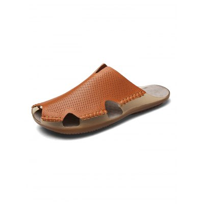Pure Hand Made Men Leather Slippers