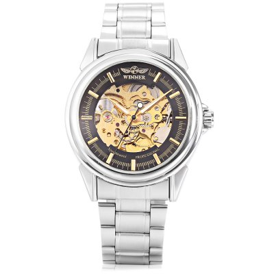 Winner A025 Male Auto Mechanical WristwatchMens Watches<br>Winner A025 Male Auto Mechanical Wristwatch<br><br>Band material: Stainless Steel<br>Band size: 22 x 1.8cm / 8.66 x 0.71 inches<br>Brand: Winner<br>Case material: Alloy<br>Clasp type: Sheet folding clasp<br>Dial size: 4 x 4 x 1cm / 1.57 x 1.57 x 0.39 inches<br>Display type: Analog<br>Movement type: Automatic mechanical watch<br>Package Contents: 1 x Watch<br>Package size (L x W x H): 12.00 x 5.00 x 2.00 cm / 4.72 x 1.97 x 0.79 inches<br>Package weight: 0.1280 kg<br>Product size (L x W x H): 22.00 x 4.00 x 1.00 cm / 8.66 x 1.57 x 0.39 inches<br>Product weight: 0.0970 kg<br>Shape of the dial: Round<br>Special features: Luminous<br>Watch mirror: Mineral glass<br>Watch style: Business, Fashion<br>Watches categories: Male table<br>Water resistance : Life water resistant