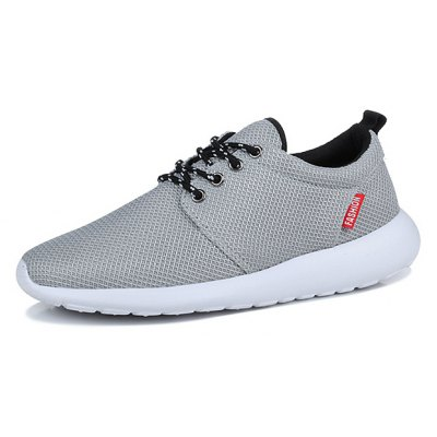 Summer Mesh Cloth Lace Up Breathable Men Sports Shoes