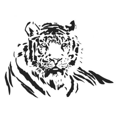 Tiger Printed Removable Wall Sticker Wallpaper