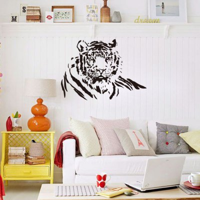 Tiger Printed Removable Wall Sticker WallpaperWall Stickers<br>Tiger Printed Removable Wall Sticker Wallpaper<br><br>Package Contents: 1 x Sticker<br>Package size (L x W x H): 61.50 x 6.00 x 6.00 cm / 24.21 x 2.36 x 2.36 inches<br>Package weight: 0.3530 kg<br>Product size (L x W x H): 58.00 x 81.00 x 0.10 cm / 22.83 x 31.89 x 0.04 inches
