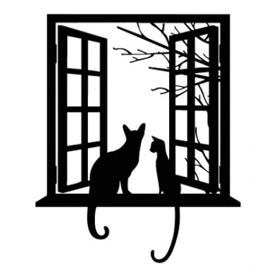 Window Cat Printed Removable Wall Sticker Wallpaper