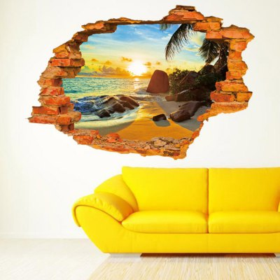 Sea Beach 3D Removable Wall Sticker WallpaperWall Stickers<br>Sea Beach 3D Removable Wall Sticker Wallpaper<br><br>Package Contents: 1 x Sticker<br>Package size (L x W x H): 61.50 x 6.00 x 6.00 cm / 24.21 x 2.36 x 2.36 inches<br>Package weight: 0.3640 kg<br>Product size (L x W x H): 60.00 x 90.00 x 0.10 cm / 23.62 x 35.43 x 0.04 inches