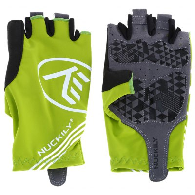 Pair of NUCKILY PC04 Half-finger Cycling Gloves with Gel Pad