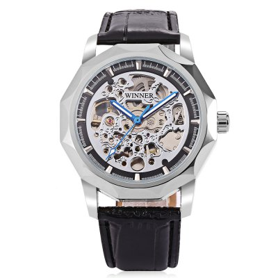 Winner H199M Men Auto Mechanical WatchMens Watches<br>Winner H199M Men Auto Mechanical Watch<br><br>Band material: Leather<br>Band size: 25.5 x 2cm / 10.04 x 0.79 inches<br>Brand: Winner<br>Case material: Alloy<br>Clasp type: Pin buckle<br>Dial size: 4.5 x 4.5 x 1.3cm / 1.77 x 1.77 x 0.51 inches<br>Display type: Analog<br>Movement type: Automatic mechanical watch<br>Package Contents: 1 x Watch<br>Package size (L x W x H): 26.50 x 5.50 x 2.30 cm / 10.43 x 2.17 x 0.91 inches<br>Package weight: 0.0930 kg<br>Product size (L x W x H): 25.50 x 4.50 x 1.30 cm / 10.04 x 1.77 x 0.51 inches<br>Product weight: 0.0620 kg<br>Shape of the dial: Irregular<br>Special features: Luminous<br>Watch mirror: Mineral glass<br>Watch style: Fashion, Business<br>Watches categories: Male table<br>Water resistance : Life water resistant<br>Wearable length: 19.00 - 24.00cm / 7.48 - 9.45 inches