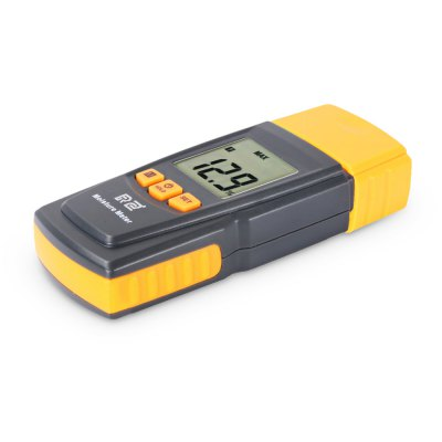 RZ RZ605 LCD Display Digital Wood Moisture MeterTesters &amp; Detectors<br>RZ RZ605 LCD Display Digital Wood Moisture Meter<br><br>Accuracy  : + / - 2 percent<br>Battery Type: AAA<br>Battery Voltage: 1.5V<br>Brand: RZ<br>Measurement range : 0 - 41 percent<br>Model: RZ605<br>Package Contents: 1 x Wood Moisture Meter, 1 x English User Manual<br>Package size (L x W x H): 22.00 x 15.50 x 4.00 cm / 8.66 x 6.1 x 1.57 inches<br>Package weight: 0.1820 kg<br>Product size (L x W x H): 13.50 x 5.50 x 3.00 cm / 5.31 x 2.17 x 1.18 inches<br>Product weight: 0.1080 kg<br>Resolution: 0.1 percent<br>Special function: Wood Moisture Measurement