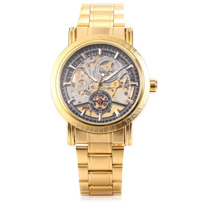 Winner H277M Men Auto Mechanical WatchMens Watches<br>Winner H277M Men Auto Mechanical Watch<br><br>Band material: Stainless Steel<br>Band size: 24 x 1.8cm / 9.45 x 0.71 inches<br>Brand: Winner<br>Case material: Alloy<br>Clasp type: Sheet folding clasp<br>Dial size: 4 x 4 x 1cm / 1.57 x 1.57 x 0.39 inches<br>Display type: Analog<br>Movement type: Automatic mechanical watch<br>Package Contents: 1 x Watch<br>Package size (L x W x H): 12.00 x 5.00 x 2.00 cm / 4.72 x 1.97 x 0.79 inches<br>Package weight: 0.1410 kg<br>Product size (L x W x H): 24.00 x 4.00 x 1.00 cm / 9.45 x 1.57 x 0.39 inches<br>Product weight: 0.1000 kg<br>Shape of the dial: Round<br>Special features: Luminous, Stopwatch<br>Watch mirror: Mineral glass<br>Watch style: Business, Fashion<br>Watches categories: Male table<br>Water resistance : Life water resistant