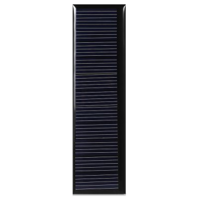 5.5V 60mA  100 x 28mm  Silicon Polycrystalline Solar PanelDIY Parts &amp; Components<br>5.5V 60mA  100 x 28mm  Silicon Polycrystalline Solar Panel<br><br>Package Contents: 1 x Polycrstalline Silicon Solar Panel<br>Package Size(L x W x H): 12.00 x 6.00 x 0.50 cm / 4.72 x 2.36 x 0.2 inches<br>Package weight: 0.0300 kg<br>Product Size(L x W x H): 10.00 x 2.80 x 0.30 cm / 3.94 x 1.1 x 0.12 inches<br>Product weight: 0.0090 kg<br>Type: Other