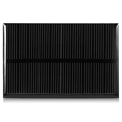 5.5V 100mA 84.5 x 55.5mm Polycrystalline Silicon Solar CellBatteries<br>5.5V 100mA 84.5 x 55.5mm Polycrystalline Silicon Solar Cell<br><br>Package Contents: 1 x Polycrystalline Silicon Solar Panel<br>Package Size(L x W x H): 10.00 x 6.00 x 0.50 cm / 3.94 x 2.36 x 0.2 inches<br>Package weight: 0.0500 kg<br>Product Size(L x W x H): 8.45 x 5.55 x 0.30 cm / 3.33 x 2.19 x 0.12 inches<br>Product weight: 0.0180 kg