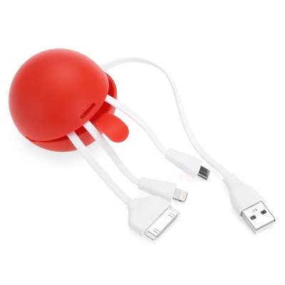 3-in-1 USB Hub Data Sync Cable
