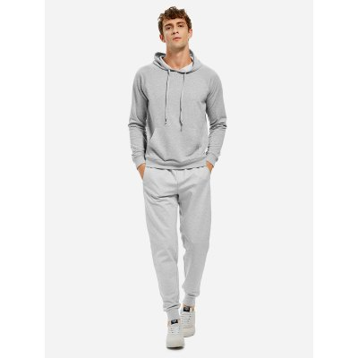 ZANSTYLE Light Gray Hoodie for Men