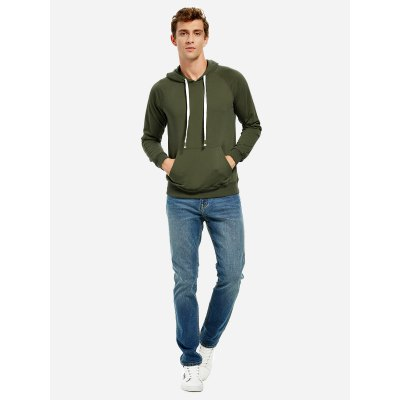 ZANSTYLE Blackish Green Hoodie for Men