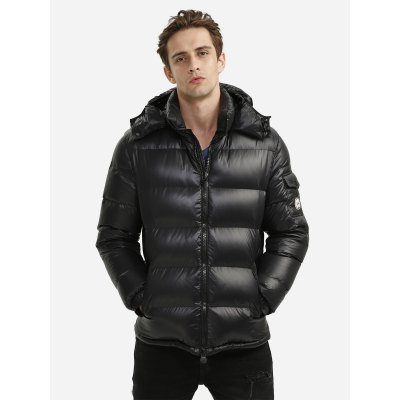 ZANSTYLE Men Black Down Jacket