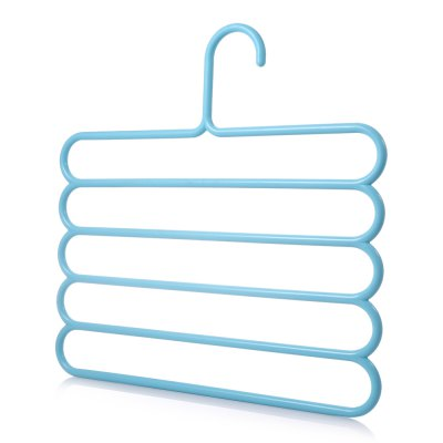 S-shaped Painted Pants Hanger Clothes RackHooks &amp; Racks<br>S-shaped Painted Pants Hanger Clothes Rack<br><br> Product weight: 0.1220 kg<br>Available Color: Blue<br>Functions: Home<br>Materials: Stainless Steel<br>Package Contents: 1 x Clothes Rack<br>Package Size(L x W x H): 36.00 x 34.50 x 2.90 cm / 14.17 x 13.58 x 1.14 inches<br>Package weight: 0.1820 kg<br>Product Size(L x W x H): 34.00 x 32.50 x 0.90 cm / 13.39 x 12.8 x 0.35 inches<br>Types: Hooks and Racks