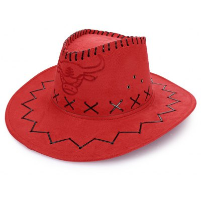Unisex Breathable Hole Cowboy Hat with Adjustable Drawcord