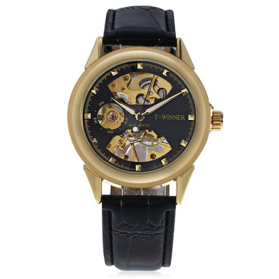 T - winner A025 Men Auto Mechanical WatchMens Watches<br>T - winner A025 Men Auto Mechanical Watch<br><br>Band material: Leather<br>Band size: 25 x 1.8cm / 9.84 x 0.71 inches<br>Brand: T-winner<br>Case material: Alloy<br>Clasp type: Pin buckle<br>Dial size: 4 x 4 x 1cm / 1.57 x 1.57 x 0.39 inches<br>Display type: Analog<br>Movement type: Automatic mechanical watch<br>Package Contents: 1 x Watch<br>Package size (L x W x H): 26.00 x 5.00 x 2.00 cm / 10.24 x 1.97 x 0.79 inches<br>Package weight: 0.0810 kg<br>Product size (L x W x H): 25.00 x 4.00 x 1.00 cm / 9.84 x 1.57 x 0.39 inches<br>Product weight: 0.0500 kg<br>Shape of the dial: Round<br>Special features: Luminous<br>Watch mirror: Mineral glass<br>Watch style: Fashion, Business<br>Watches categories: Male table<br>Water resistance : Life water resistant<br>Wearable length: 19.00 - 24.00cm / 7.48 - 9.45 inches