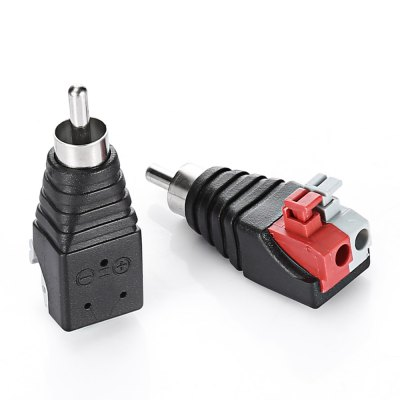 5pcs RC CAT5 / CAT6 to RCA Male Coaxial Connector