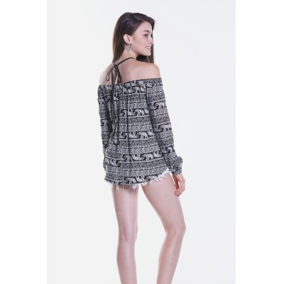 Printed Halter Off The Shoulder BlouseBlouses<br>Printed Halter Off The Shoulder Blouse<br><br>Collar: Off The Shoulder<br>Elasticity: Nonelastic<br>Material: Viscose<br>Package Content: 1 x Blouse<br>Package size (L x W x H): 35.00 x 2.00 x 26.00 cm / 13.78 x 0.79 x 10.24 inches<br>Package weight: 0.1700 kg<br>Pattern Type: Print<br>Product weight: 0.1300 kg<br>Season: Spring, Summer, Fall<br>Shirt Length: Regular<br>Sleeve Length: Long Sleeves<br>Style: Fashion