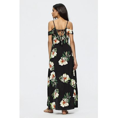 Floral Pattern Patchwork Backless Slit Maxi DressMaxi Dresses<br>Floral Pattern Patchwork Backless Slit Maxi Dress<br><br>Dresses Length: Maxi<br>Embellishment: Slit<br>Material: Linen, Polyester<br>Neckline: Plunging Neck<br>Occasion: Club, Casual, Beach and Summer, Party, Night Out<br>Package Contents: 1 x Dress<br>Package size: 37.00 x 28.00 x 3.00 cm / 14.57 x 11.02 x 1.18 inches<br>Package weight: 0.2500 kg<br>Pattern Type: Floral<br>Product weight: 0.2200 kg<br>Season: Summer<br>Silhouette: Fit and Flare<br>Sleeve Type: Cold Shoulder<br>Style: Sexy<br>With Belt: No