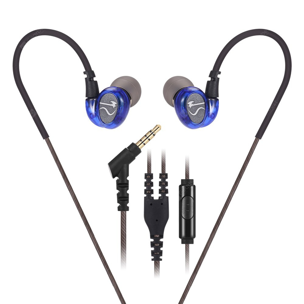 buy x2 universal in ear bass earbuds blue at gearbest chinese goods catalog. Black Bedroom Furniture Sets. Home Design Ideas